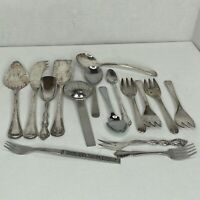 Vintage Stainless & Silver Plated Serving Utensils Lot