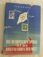 Catalogue Olympic Games Stamps Of The World (German) by F Bura, 1960 Vgc