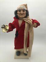 """TELCO Motionette 21"""" Animated SCROOGE Christmas Carol Light Up 1992"""