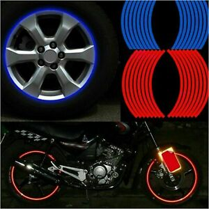NEW Wheel Strips Stickers Decals Reflective Rim Tape Bike Motorcycle Car Tapes