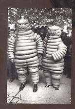 REAL PHOTO MICHELIN MAN AND WOMAN ADVERTISING TIRES POSTCARD COPY