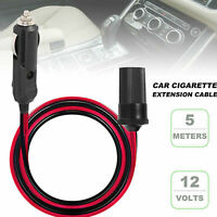 16 ft Car Cigarette Lighter Socket Extension Cord Cable Heavey Duty 12V