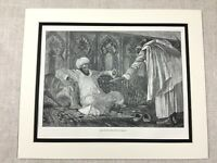 Antique Print King Hassan I Sultan of Morocco Victorian 19th Century Original