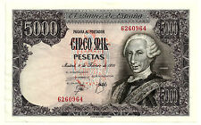 BILLETE DE 5000 PESETAS DE 1976 (EBC) CARLOS III (SIN SERIE)