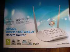 TP-LINK TD-W8968 Modem Router ADSL2+ Wireless N 300Mbps 2.4GHz USB 4x100Mbps LAN