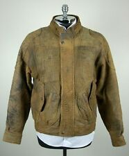 Vintage / Rare American Male Mens Brown Suede Leather Bomber Coat Jacket M (42)