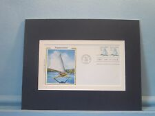 Ice Boat Sailing on the Hudson River & the First day Cover of its own stamp