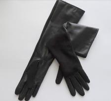 Luxus Damen Echtleder Handschuhe Lang Warm Touch Screen Ziegenleder Fäustlinge