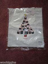 Bolsa grande de lienzo RADLEY Árbol De Navidad-con Bolsillo con Cremallera-Nuevo con etiquetas