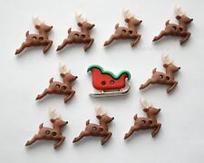 Sew Cute Sleigh / Reindeer / Holiday Collection / Jesse James Dress it Up Button