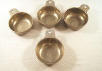 VTG Wilton Pewter Armetale QUEEN ANNE Porringer Bowls with Handles  Set of 4