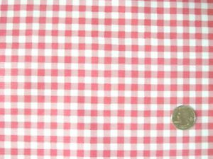 ROSE PINK GINGHAM CHECK KITCHEN PATIO DINING OILCLOTH VINYL TABLECLOTH 48x84 NEW