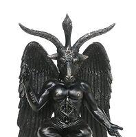 Baphomet Horned Sabbatic Goat Solve et Coagula Statue 10 Inch Tall