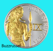 Girdle of Hippolyta 1 oz Silver The 12 Labors of Hercules Gilded 24K Gold #9