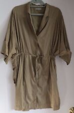 COS Light and Soft Khaki Shift/Trench Coat with Drawstring Tie. Size 38
