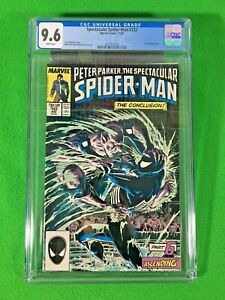 PETER PARKER THE SPECTACULAR SPIDER-MAN # 132 - CGC 9.6 White - 11/1987