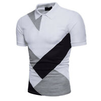 Herren Polo Shirt Polohemd Kurzarmshirt Sommer Locker Golf T-Shirt Slim Fit Tops