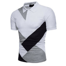Mens Polo Golf Sports T Shirt Jersey Casual Short Sleeve Summer Loose Blouse New