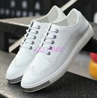 Mens Fashion Sneakers Korean Lace up Flats Casual Walk Shoes Board Low Top Shoes