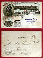 Litho AK BÜTTHARD in Bayern 1897 Ortsansicht, Warengeschäft Zorn ( 67580