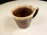 Vintage Brown Drip Coffee Cup Made in USA MCCOY                                I