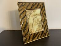 VERY RARE JAY Strongwater Jungle Tiger Gold Jungle Animal Enamel Frame 5x7