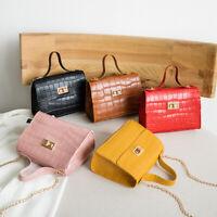 PU Leather Chain Shoulder Crossbody Bag Small Messenger Handbag Bag Phone Purse