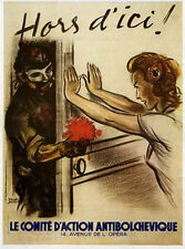 "WW2 French ""Hors d`ici"" poster"