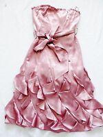 BNWT NEXT  ladies rrp80 DUSKY PINK occasion corset wedding party Dress size 8