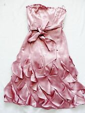 BNWT NEXT  ladies rrp80 DUSKY PINK SILKY OCASSION corset wedding Dress size 6