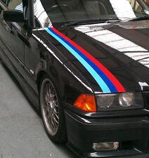 Autocollant voiture style bande graphique BMW M SPORT à rayures soucis E36 E46 face latérale du capot boot