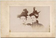GREAT HATS - POSSIBLY YOUNG SISTERS VINTAGE PHOTO