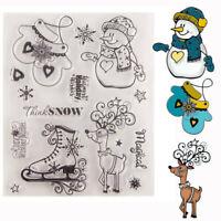 Silikonstempel Weihnachten Schneemann Handschuhe Cutter DIY Scrapbooking Card