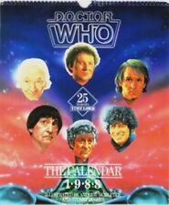 DOCTOR WHO 1988 CALENDAR ILLUSTRATED 6 DOCTORS, new