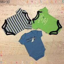 NAUTICA 3-6 MONTH BABY GIRL BOY 3 PIECES BODYSUIT SETS