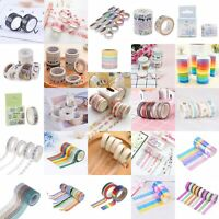 DIY WashiTape Set Masking Tape Scrapbook Decorative Paper Adhesive Stick HQ