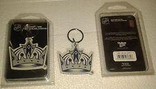 Lot of 2 L.A. KINGS Acrylic KEY CHAINS NHL Factory Sealed NIB LOS ANGELES