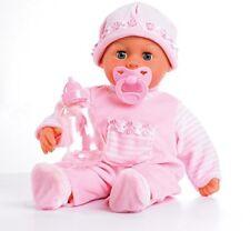 Bayer Design 93800 Babypuppe First Words mit Schlafaugen rosa 38 Cm