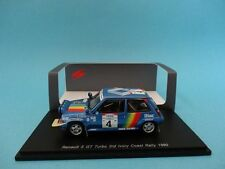 RENAULT 5 GT TURBO #4 - OREILLE - RALLY COTE IVOIRE 1990 - 1/43 NEW SPARK S3860