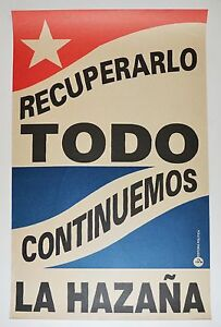 1967 Original Cuban Poster.Recycle Everything.Communism.Cold War art.Authentic.