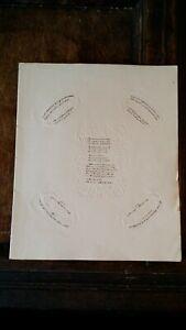 1850 VICTORIAN MINIATURE HAND WRITTEN MICRO MANUSCRIPT OF RIDDLES EMBOSSED PAPER