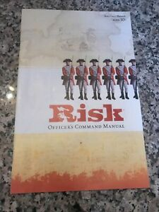 RISK GAME REPLACEMENT OFFICER'S COMMAND MANUAL / MANUAL ONLY