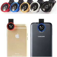 3in1 Fisheye Camera Angle Widener Macro Lens Clip for iPhone Samsung Sony  LG gb