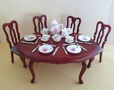Dolls House Miniature Dining Set+ Free Tea set & cutlery Streets Ahead 1:12