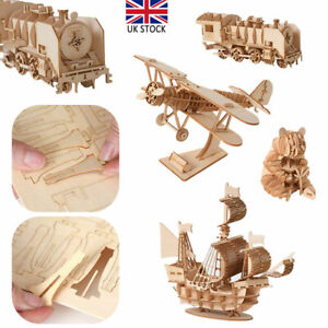 Jigsaw Puzzles 3D Wooden Model Self-Assembly Educational Toy For Adult Child UK