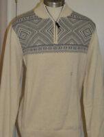 Men's Chaps Beige Long Sleeve 1/4 Zip Pullover Sweater Sizes S, M, L, XL, 2XL