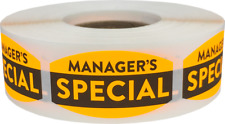 Manager's Special Grocery Stickers, 0.75 x 1.375 Inches, 500 Labels on a Roll