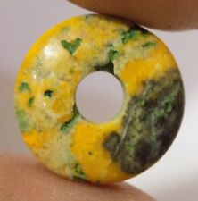 Natural Bumble Bee Donut Big Hole Coin Pendant Beads 12mm-25mm 2 Pcs #DB-142