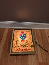 Heilmans Old Style Beer La Low Alcohol Lighted Bar Sign