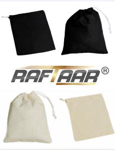Drawstring pouch 100% cotton quality giftbag/pouch wholesale storage 2 colours